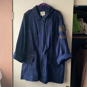 Torrid beaded utility jacket
